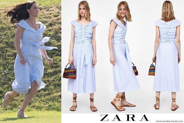 Kate Middleton wore ZARA striped off the shoulder dress