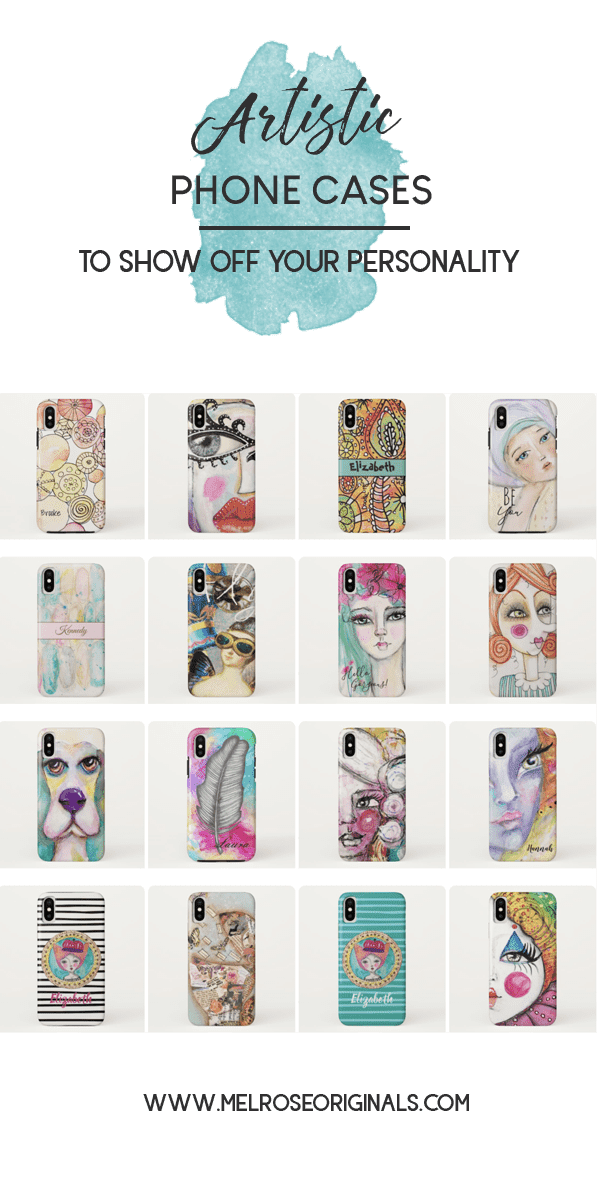 product grid images of artsy phone cases from Melrose Originals