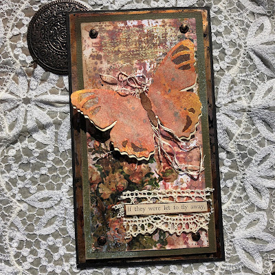 Tim Holtz Sizzix Tattered Butterfly Distress Oxide Sprays Alcohol Pearls Tutorial by Sara Emily Barker https://frillyandfunkie.blogspot.com/2019/03/saturday-showcase-tim-holtz-tattered.html 8