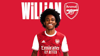 Former Chelsea player Willian officially joins Arsenal
