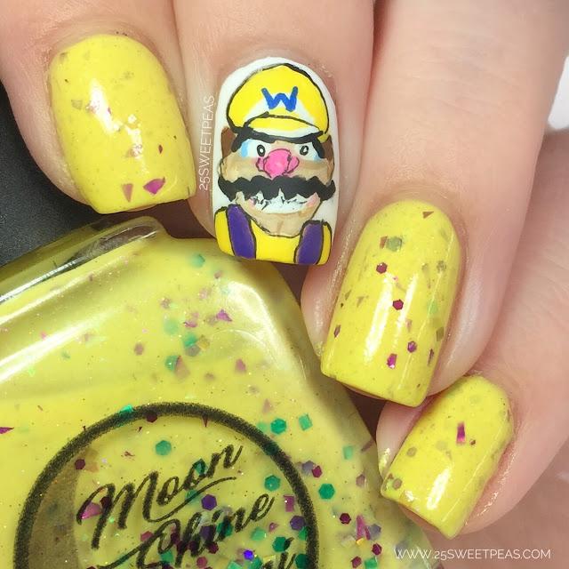 Wario Nail Art