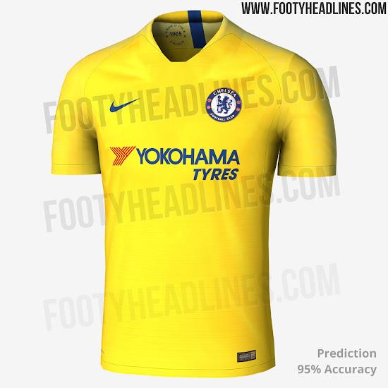 Premier League 17 Matchday Round Season 2018 2019: Nike Chelsea 18-19 Away Kit Leaked