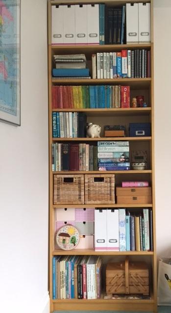 My bookshelves sparking joy