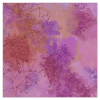 Creative coding with Processing. It looks like a watercolor picture.