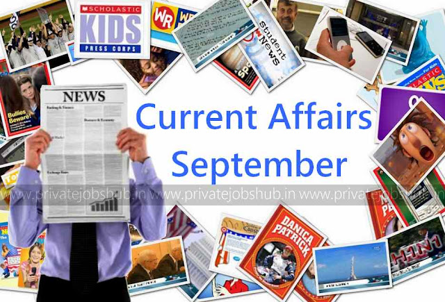 Current Affairs September