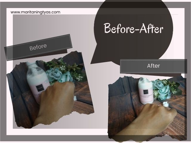 review before after scarlett whitening body lotion