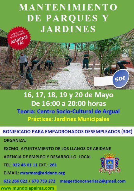 Curso de mantenimiento de parques y jardines en los llanos - Mantenimiento parques y jardines ...