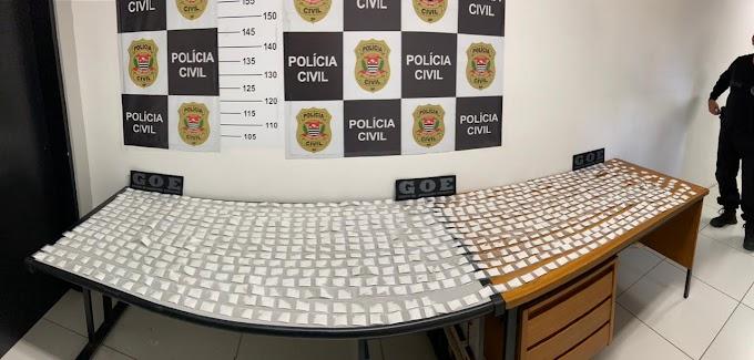 POLICIAIS DO GRUPO DE OPERAÇÕES ESPECIAIS, DA SECCIONAL DE MOGI DAS CRUZES, APREENDEM 14 QUILOS DE ENTORPECENTES NA VILA NATAL