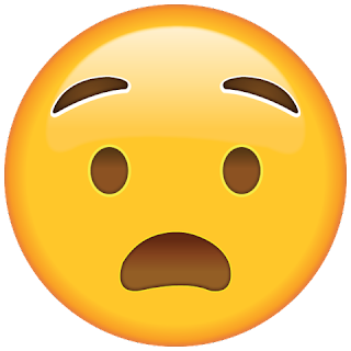 WhatsApp Anguished Face Emoji