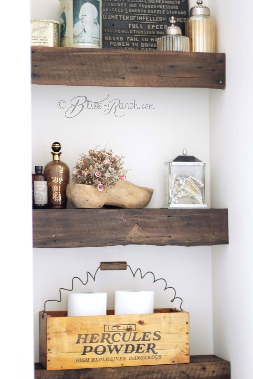 Barn Wood Shelves, Bliss-Ranch.com
