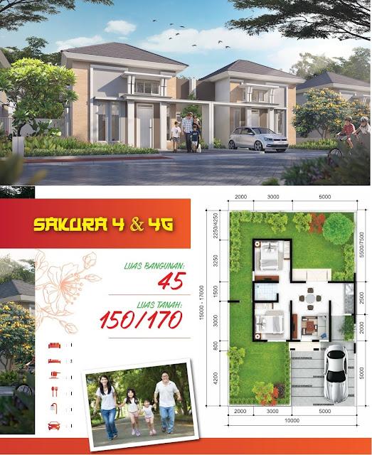 Gambar dan Denah Tipe SAKURA 4 - 45/150 dan 5 - 45/170