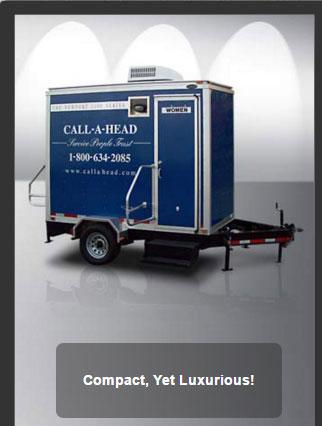 The Newport 1100 Portable Restroom Trailer