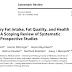 Ingestão total de gordura na dieta, qualidade de gordura e resultados de saúde: uma análise de escopo de revisões sistemáticas de estudos prospectivos.