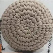 Bolso Redondo Trapillo a Crochet