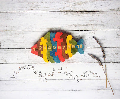 Wooden Fish Puzzle from Pawoo Toys