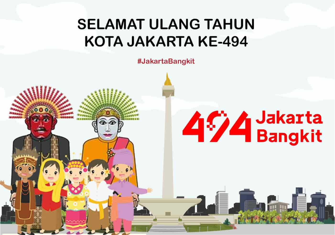 gambar ucapan hut dki jakarta ke-494 tahun 2021