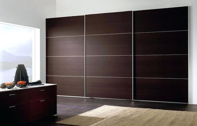Plain and simple bedroom wardrobe designs