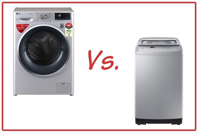 LG FHT1408ZWL (left) and Samsung WA70A4002GS/TL (right) Washing Machines.