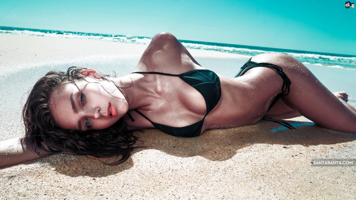 Rachel Cook Black Bikini Hot Wallpaper