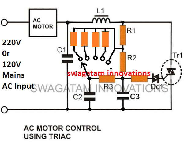 fixed resistor type rotary switch electronic light dimmer fan regulator circuit
