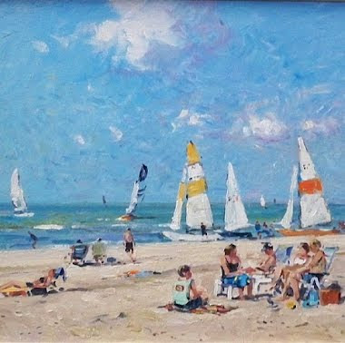 View of Sail Boats at the Beach