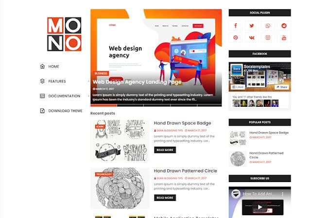 Mono Blogger Template