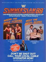 WWE/WWF SUMMERSLAM 1988: Poster for event