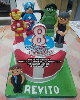 Fondant Birthday Tart Avengers