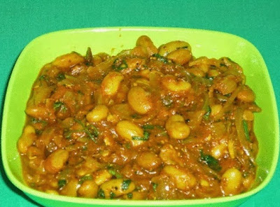 fresh  rajma masala in a serving plate