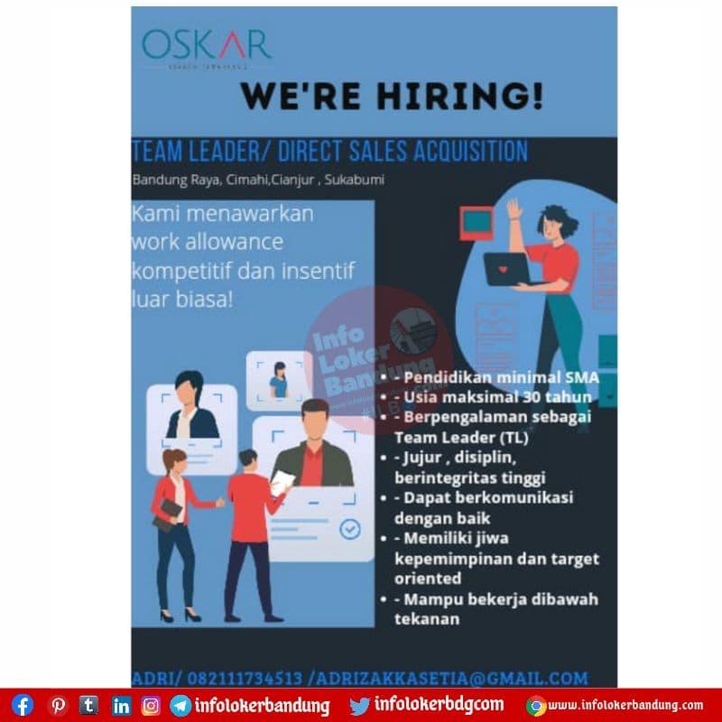 Lowongan Kerja PT. Oskar Kayasa Cemerlang Bandung Agustus 2021