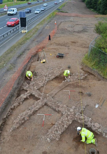 Roadworks uncover lost medieval Scottish village