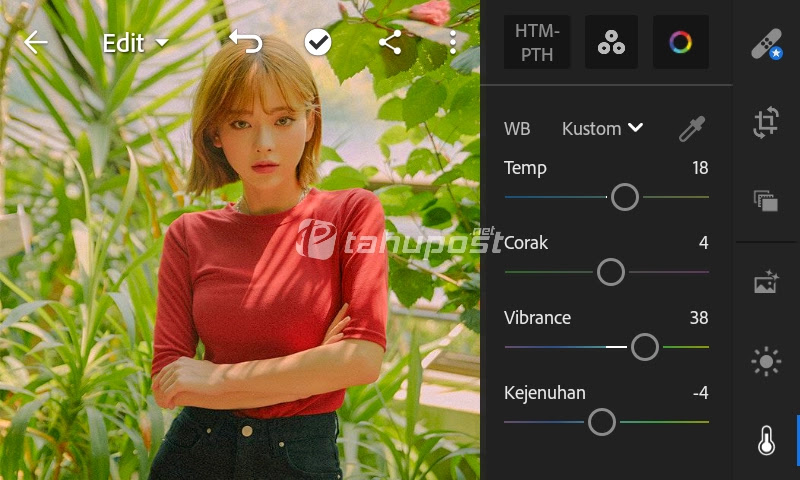 Menu Warna - Preset Lightroom Ala Selebgram Red Velvet