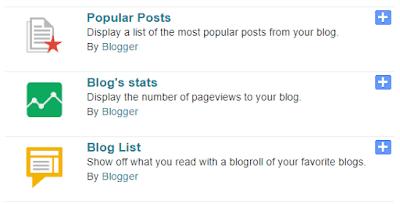 Memilih Gadget di Blogger