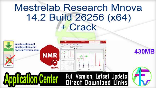 Mestrelab Research Mnova 14.2 Build 26256 (x64) + Crack