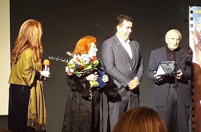 Τιμήθηκαν ο Νικήτας Τσακίρογλου και η Χρυσούλα Διαβάτη στο Διεθνές Φεστιβάλ Κινηματογράφου Πελοποννήσου