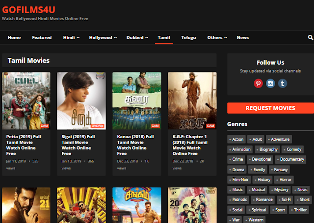 Gofilms4u: 300mb movie Downloading Website & New Url Link