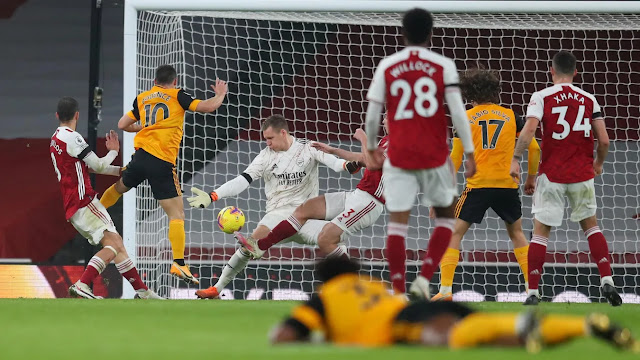 Arsenal lost at home to Wolves