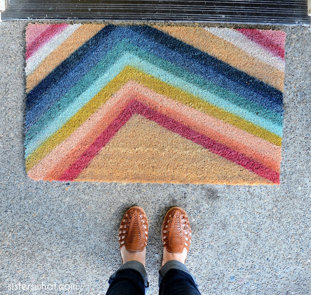 DIY door mats for your front door