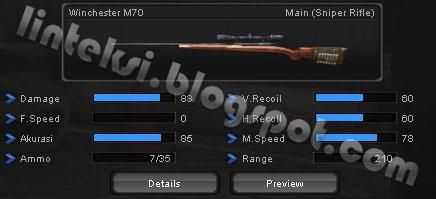 Senjata PointBlank Winchester M70