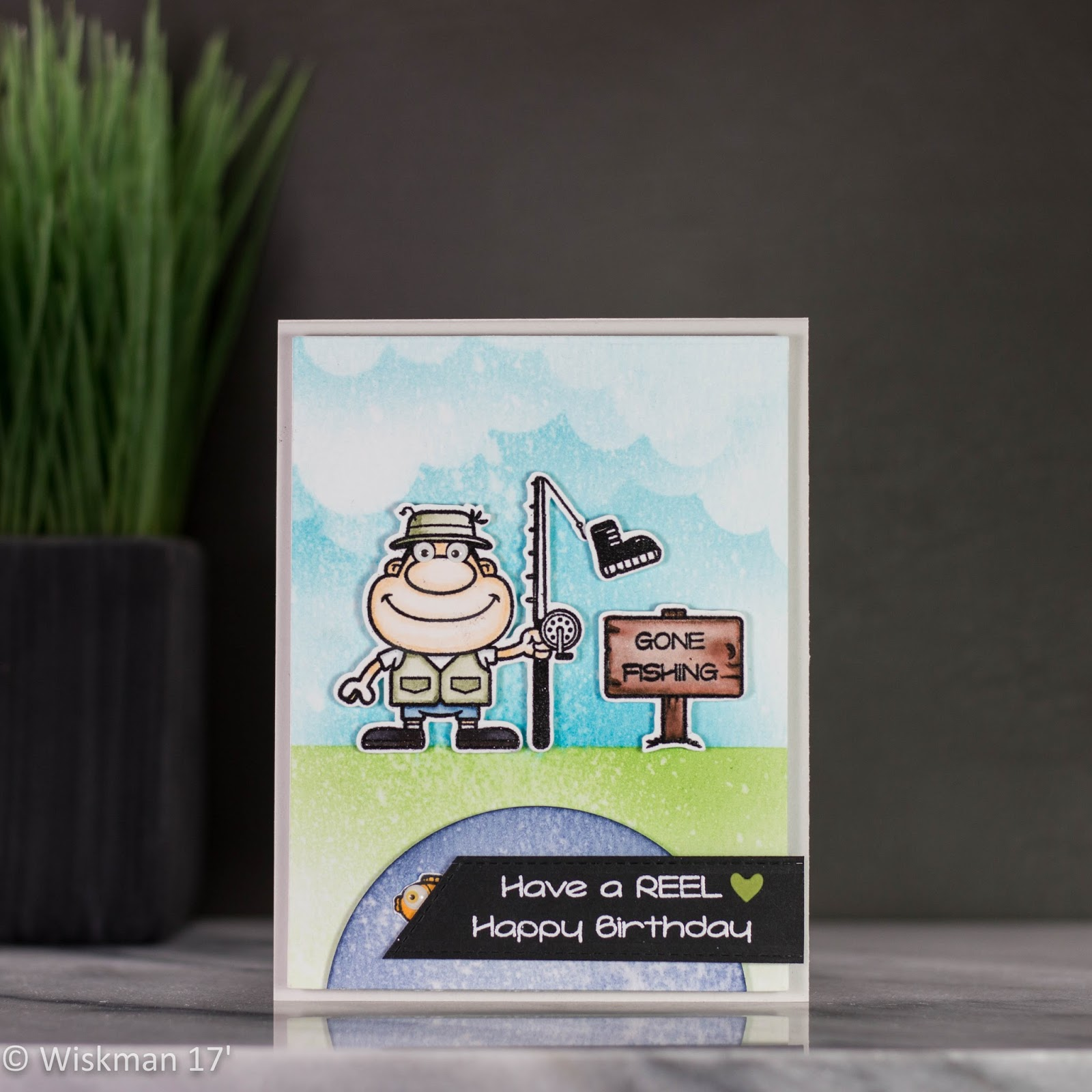 Koren Wiskman Your Next Stamp Gone Fishing Birthday Card With Video