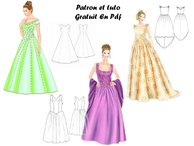 Patron robe de soiree facile gratuit