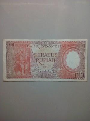 100 rupiah tahun 1964 (Merah)