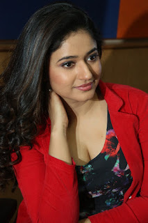 Poonam Bajwa Stills At Radio City In Red Dress (4)