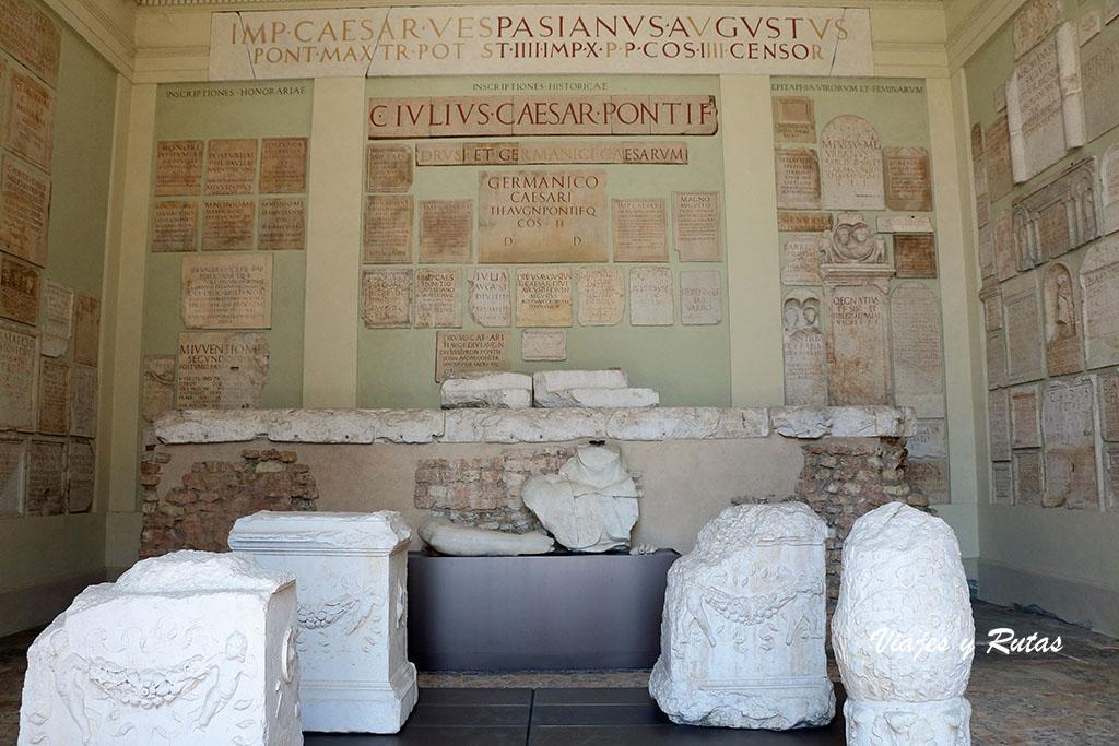 Área arqueológica romana, templo capitolino de Brescia