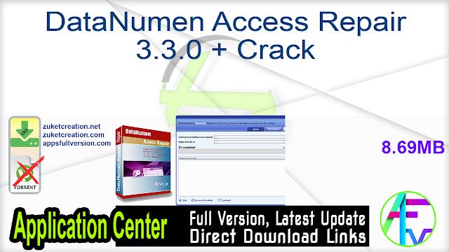 DataNumen Access Repair 3.3.0 + Crack
