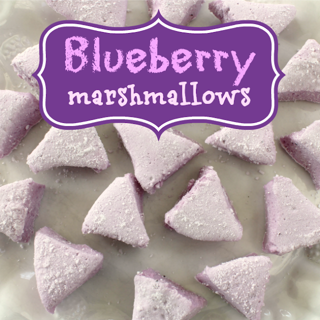 How to make blueberry marshmallows