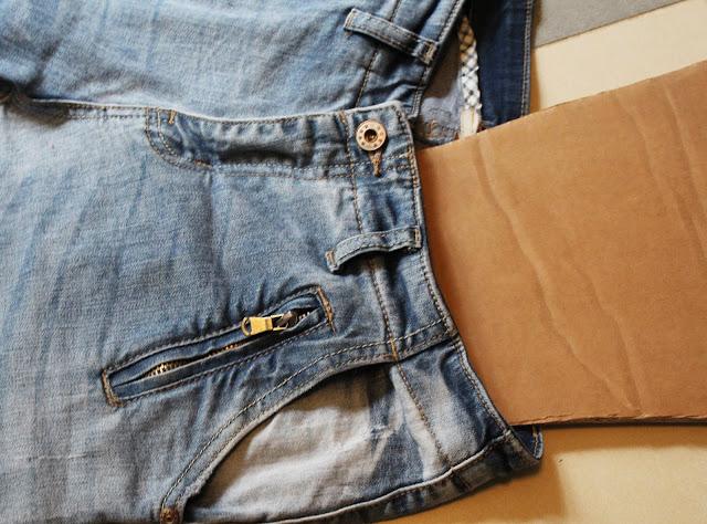 blog DIY jak pomalować spodnie farbam,i do tkanin
