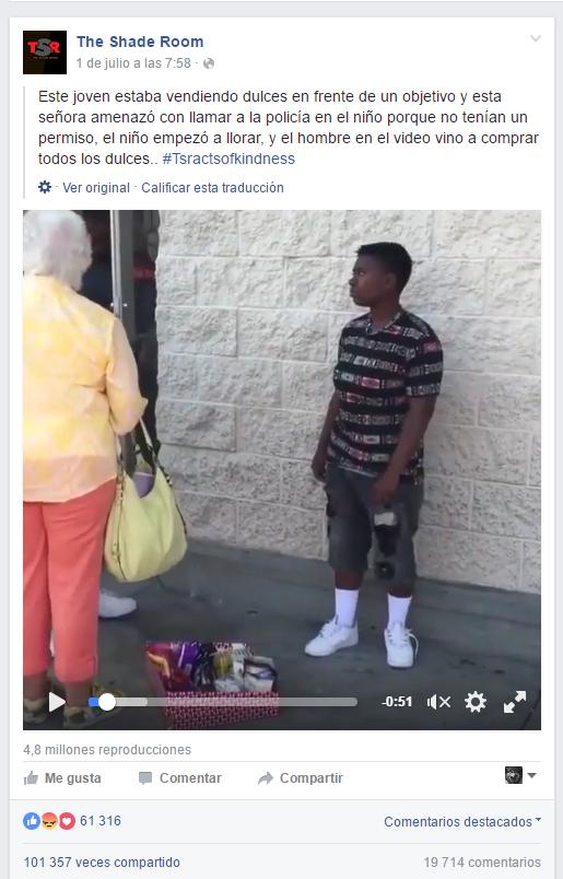 """Mujer molesta a un niño que vendía dulces """"sin permiso"""""""