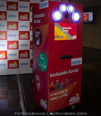 Alquiler de la Fotocabina para el congreso de inclusion social