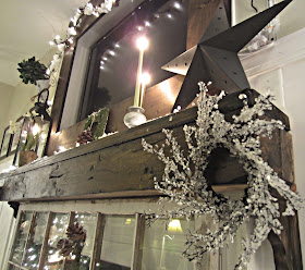 Down To Earth Style Winter Mantel 2012